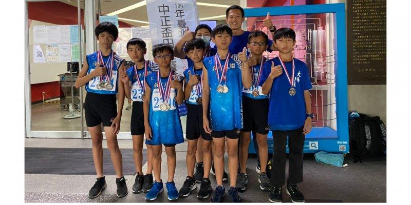 恭喜本校田徑隊參加109年臺北市中正盃田徑賽獲得1金4銀1銅